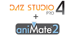 DAZ Studio 4.5 + aniMate 2