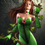 PoisonIvy DC Doug Shuler DAZ 3D Digital Art Illustration