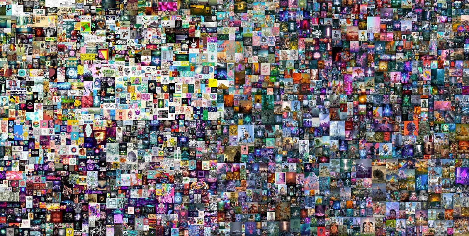 Beeple art collage
