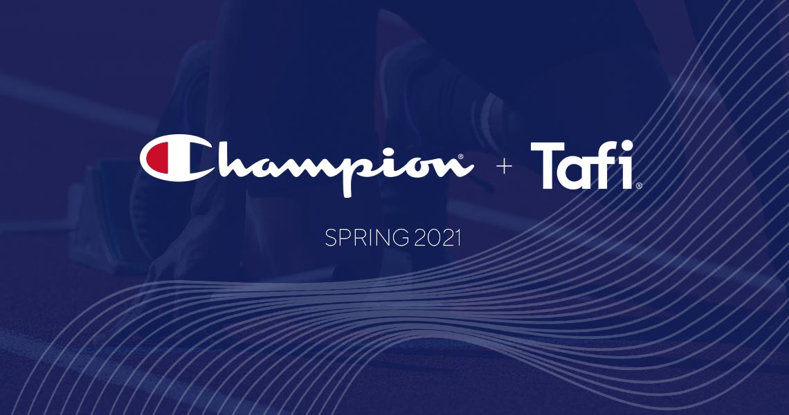 Tafi and Champion® Athleticwear Expand Partnership to Showcase Champion's 2021 Spring Line