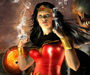 DAZ Studio 4 In Action - Wonder Woman by John Van Fleet